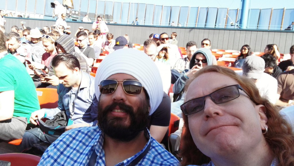 Jatinder and me at the keynote