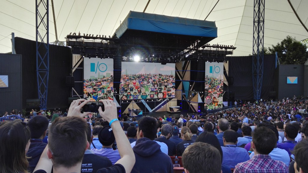 Google IO main stage with audience