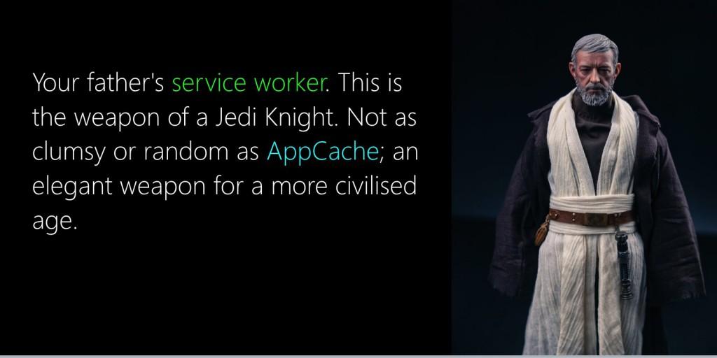 serviceworker beats appcache